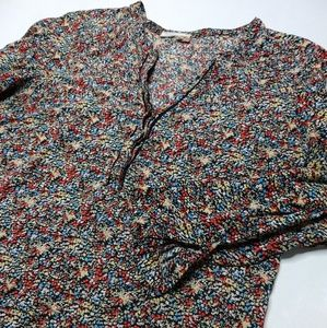Meadow Rue Small Floral Long Sleeve Button Shirt